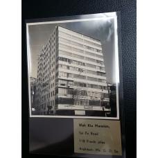 1950's REAL PHOTOWAH KIU MANSION TAI PO ROAD HK 11x10.5cm