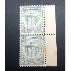 *1900 TURKS & CAICOS ISLAND 2 1/2d INVERT & REVERSED WMK RARE