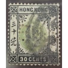1904 KE 30c B&S perfin