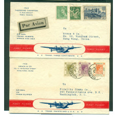 1939 FFC 3 PLACE HONG KONG FRANCE USA