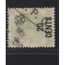 1891 QV 20/30c AMOY IPO MARKING VF