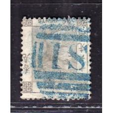 1863 QV 96c inverted watermark .
