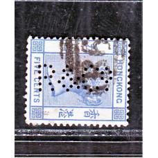 1882 QV 5c CA WMK R&Co A2278