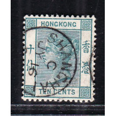 1886 QV 10c deep blue green used in shanghai