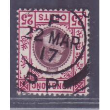1912 KGV 25c TYPE A