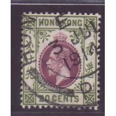 1912 KGV 20c PP cancel