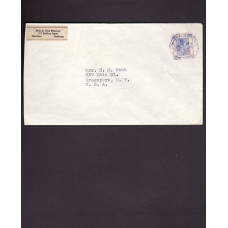 1939 KGVI 25c TO USA CHEUNG CHAU TYPE II CDS