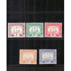 1923 upright watermark set of 5 toned