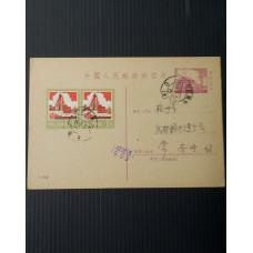 CHINA PRC STATIONARY postal card 2c USED 1982