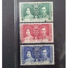 1937 CORONATION SET OF 3 VFU